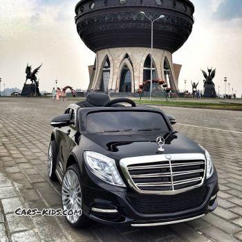 Электромобиль Mercedes Benz S600 красный (усиленный аккумулятор, резина, кожа, пульт, музыка, ГЛЯНЦЕВАЯ ПОКРАСКА)