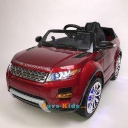 Электромобиль Range Rover Luxury SX118-S (A111AA VIP) красный (колеса резина, сиденье кожа, пульт, музыка)