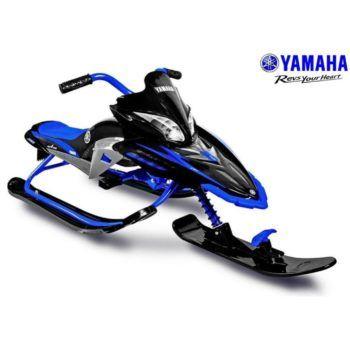 Снегокат Yamaha, лицензионный синий (мягкое кресло, тормоз, трос, удобные ручки)