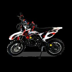 Мини кросс бензиновый MOTAX 50 cc бело-красный (бензиновый, мех стартер, до 50 кг, до 45 км/ч, вариатор, тормоза дисковые механические)