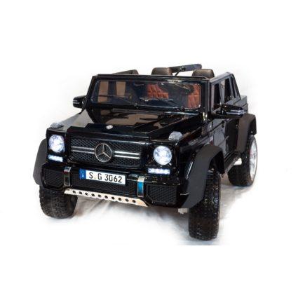 Электромобиль Mercedes-Benz Maybach G650 AMG 4WD черный (2х местный, полный привод, резина,  кожа, пульт, музыка)