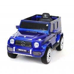 Электромобиль Mercedes-Benz G63 T999TT синий (кресло кожа, колеса резина, пульт, музыка)