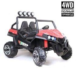 Электромобиль BUGGY т888тт 4WD Spider красный (полный привод, колеса резина, кресло кожа, пульт, музыка)